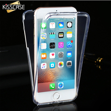 KISSCASE For iPhone 7 6 6S Plus 5S SE 4 4S Clear TPU Screen Touch Front Back Full Coverage Case For iPhone 7 6S Plus Soft Cover