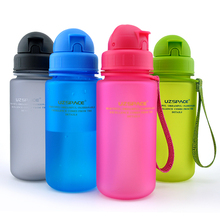 350-400ML Travel School Children Plastic Water Bottle Baby Health Straw Leakproof  Kids Sports Bottles
