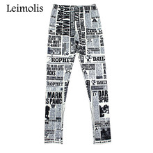 Leimolis adventure time punk rock Harajuku black milk push up fitness sexy gothic 3d print poster newspaper women leggings
