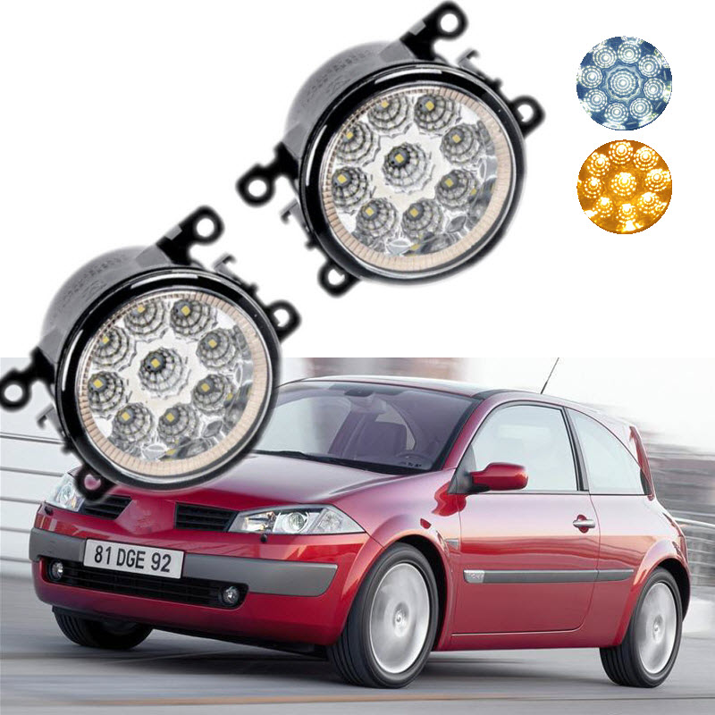 For Renault Megane Estate Sedan Grandtour CC Couple 9-Pieces Leds Chips LED Fog Light Lamp H11 H8 12V 55W Halogen Fog Lights<br>