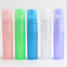 5pcs / batch 3ml high quality color plastic spray bottle female Cometic container fashion nebulizer vial free shipping