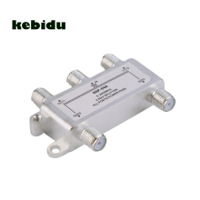 kebidu Digital 24V 0.8A Hot 4 Way Satellite Antenna Cable TV Splitter Distributor 78 x 46 x 14mm F Type connector design(China)