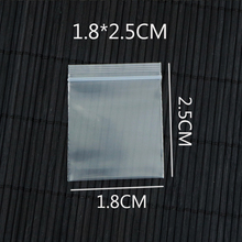 GREAT BULK PRICE 100pcs Small Clear Poly Ziplock Thick Plastic Reclosable Zipper Bags 1.8x2.5cm