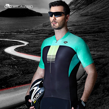 Santic Men Cycling Short Jersey Pro Fit Natural Anti-bacterial Soft Fabric Road Bike MTB Cycling Team Clothings M7C02106