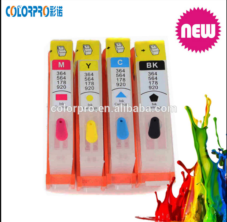2016 hot sale black 1 colors refillable ink cartridge for HP 920 564 178 364 655 670 685 without chip and ink,high quality<br><br>Aliexpress