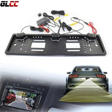 EU License Plate Frame Reversing Radar Parking Camera Night Vision 170 degree Waterproof(China)