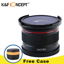Buy K&F CONCEPT 0.35x 52mm Fisheye Lens Wide Angle Macro Super HD Panoramic Fish Eye Lens Canon 7D Digital DSLR Camera Camcorder for $25.73 in AliExpress store