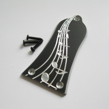 Free shipping hand engraved Musical notation pattern handmade aluminum truss rod cover fits most Epiphone electric guitars(China)