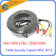 50FT/65FT/100FT CCTV All-In-One RCA Audio & BNC RCA Video & Power Cable for Security AHD TVI CVI 1080P HD Camera DVR Systems Use