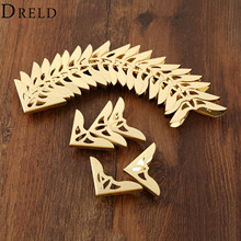 DRELD 20Pcs 31mm Gold Decorative Antique Jewelry Gift Box Wooden Case Corner Protector Guard Metal Crafts Furniture Fittings(China)