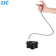 JJC TCR-70 Series 700mm Black Red Mechanical Locking Camera Shutter Release Remote Control Cable Cord Threaded Cable Release