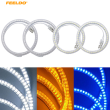 FEELDO 4pcs/Set Car LED Halo Rings Angel Eyes DRL Head Lamp For VOLKSWAGEN PASSAT #FD-3877(China)