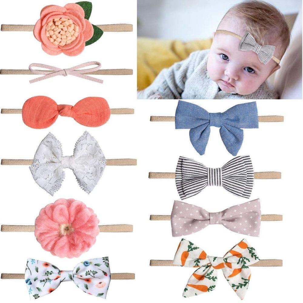 Baby Newborn Toddler Girl Flower Nylon Hairband Headband Hair Accessory