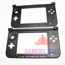 5pcs For Nintendo 3DS XL Replacement Hinge Part Bottom Middle Shell / Housing Black Used