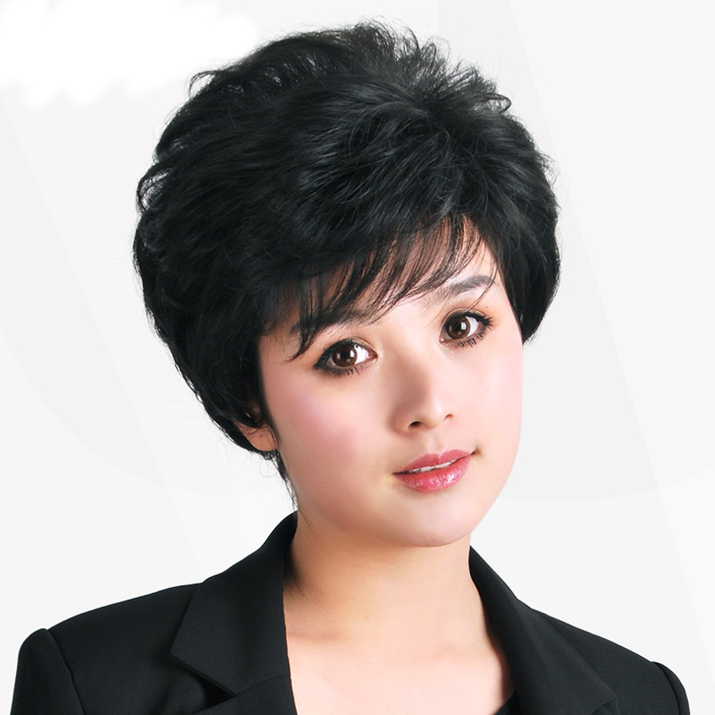 Wig Cosplay Products Girl Fashion Female Hair Wigs Temperament Short Curly Synthetic 2 color<br><br>Aliexpress