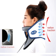 Upgrade Household Cervical Collar Neck Brace Air Traction Therapy Device Relax Pain Relief Tool Universal Size Bone Care Neck