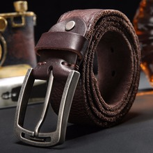 100% Italian Cow Leather Belt Men Free Shipping(China)