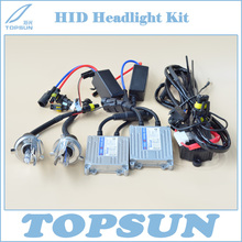 Car Light 12V 35W HID Xenon Headlight Conversion Kit TOPSUN Ballast, H4 Swing Angle Bulb Bifocal and High Low Control Wire