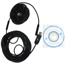 15M Cable 10mm Mini Digital USB 2.0 Endoscope Inspection 4 LED IP67 Waterproof HD Inspection Camera for Android PC(China)