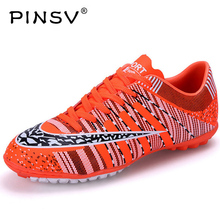 PINSV Football Boots Soccer Shoes Men Superfly Cheap Football Shoes For Sale Kids Cleats Indoor Soccer Shoes Superfly Chuteira(China)
