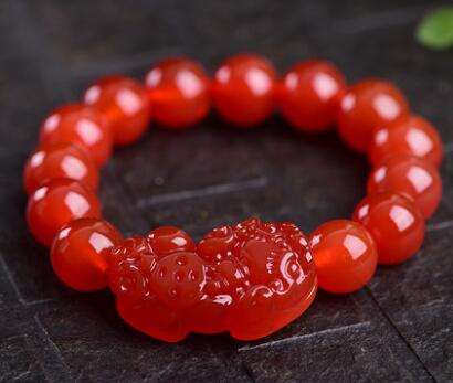 Natural wine red collection level garnet bracelet multi-circle