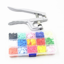 KAM Button Fastener Snap Pliers Tool+150sets  Mix Color T5 Plastic Resin Press Stud Cloth Diaper Baby Snap Buttons Free Shipping