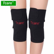 *Tcare 1Pair Tourmaline selfheating kneepad Leggings brace Band Magnetic Therapy knee Massager support Belt Leg Health Care Tool(China)