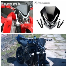 PAZOMA New Street Fighter Bike Motorcycle Universal Dirt Bike LED Vision Black Headlight For YZ CR DR DRZ CBR(China)