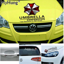 Reflective Vinyl Biochemical Crisis Umbrella Corporation Car Body Sticker Rearview Mirror Decal Door Handle Film Auto Styling