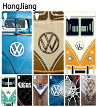 HongJiang VOLKSWAGEN VW Mini Bus Cover phone Case for sony xperia z2 z3 z4 z5 mini plus aqua M4 M5 E4 E5 C4 C5 XA(China)