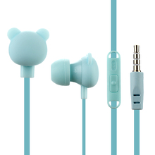 Cute Cartoon Earphone 3.5mm In-Ear Sport Music Lovely Headset Good Kids Children Bear Gift for Samsung Xiaomi HTC MP3 MP4 Player