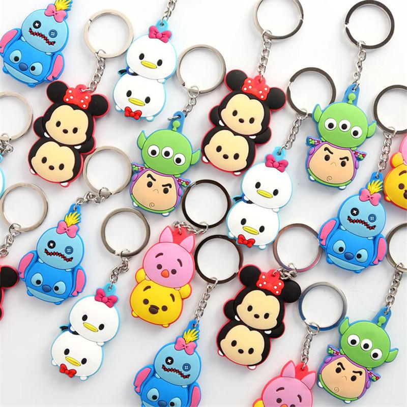 1PCS-Lovely-Cartoon-TSUM-TSUM-Mickey-Minnie-Donald-Bear-Cartoon-Doll-Keychain-Car-Key-ring-Bag (1)