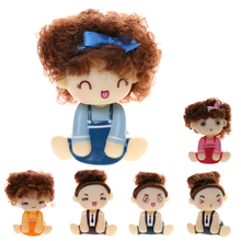 Hot Sale Cute Car Interior Shaking Head Doll Girl Auto Accessory Car Ornament Lovely Gift Vinyl Toy Home Decoration Accessories