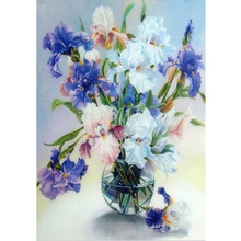 Oil illustration painting Russian style diy 5d diamond embroidery flowers in vase cross stitch kits mosaic picture home decor