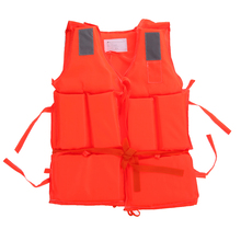 Adult Polyester Safety Life Jacket Universal Swimming Underwater Drifting Boating Ski Surfing Vest With Whistle(China)