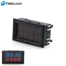 DC 0-100V/10A LED Dual Display Ammeter Voltmeter Volt Amp Meter for Cars Motorcycles Yacht Mechanical Equipment Etc(China)