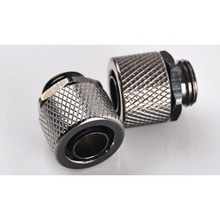 Balck G1/4-8 hand compression fitting interface water cooling PC accessories(China)
