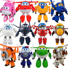 15cm Big Size Super Wings toys jett jerome mira paul bello donnie transformation Robot Plane jimbo Action Figure For Kids Gifts