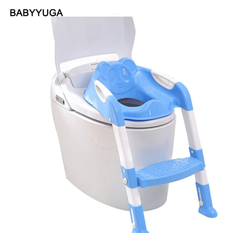Baby Potty Seat Ladder High Quality Chair Folding Toilet Kid Urinals Boy Kawaii Panda Orinal Trainers Infant Water Closet<br>
