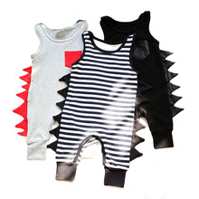 Baby Boys Tiny Cotton Rompers Infant Girls Summer Dinosaur Romper 2017 New Kids&Children Jumpsuits Newborn Dino Clothes Jumpers