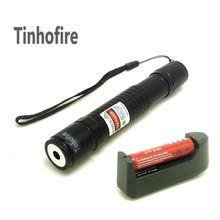 Tinhofire Check Laser 300mW Green Laser Pointer Pen+ 1 x 18650 3000mah Battery+Charger(China)