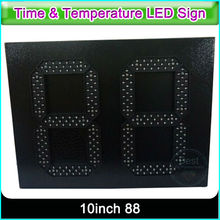 10 Inch Digit 7 Segment Display LED Red Clock Time Date Temperature LED Display Sign