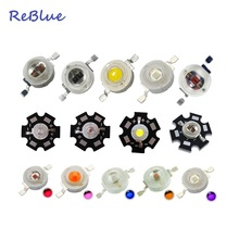 ReBlue 25Pcs 3W Led Diode 5W 850nm infrared Led Diode 3W 1W 5W IR uv diode Red 660nm 3w-led-diode Light Beads Bridglux Chip(China)