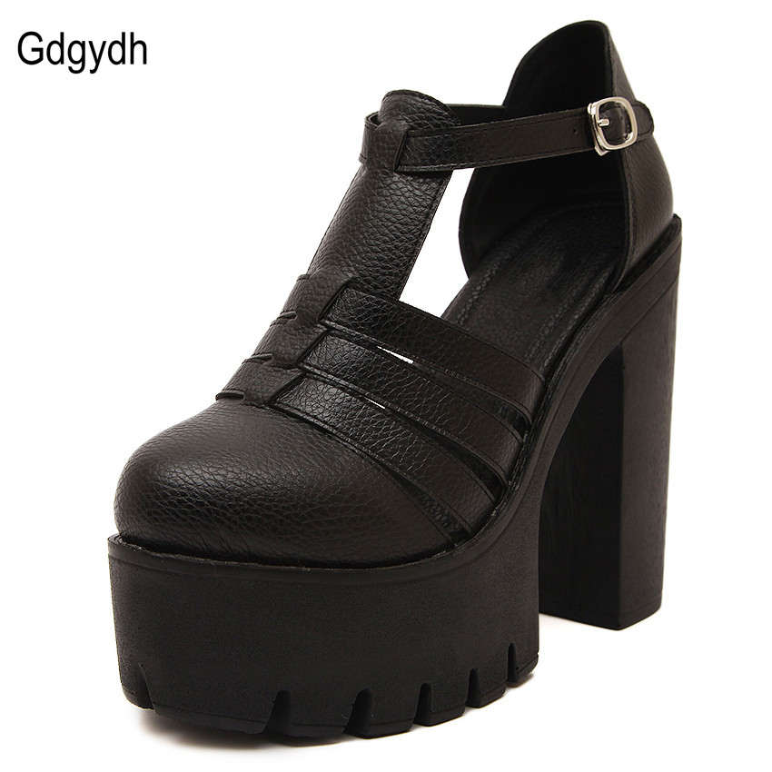 Gdgydh Hot Selling 2017 New Summer Fashion High Platform Sandals Women Casual Ladies Shoes China Black White Size EUR 35 to 39<br><br>Aliexpress