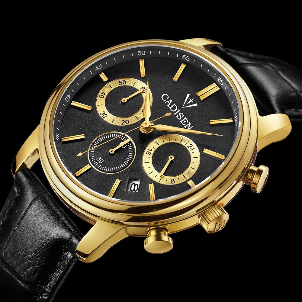 Watches Men Luxury Top Brand Cadisen New Fashion Mens Big Dial Designer Quartz Watch Male Wristwatch Relogio Masculino Relojes<br><br>Aliexpress