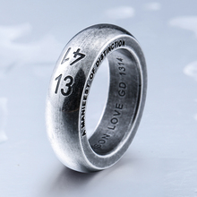 Steel soldier stainless steel engrave 1314 ring Popular for Japan Korea men high quality wedding jewelry