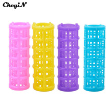 CkeyiN 12pcs/lot Magic Hair Curlers DIY Hair Salon Hairdressing Tools Plastic Hair Rollers Styling Tools Home Use Random Color(China)