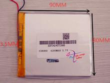 best battery brand [358090] 3.7V 4200mAH (polymer lithium ion battery) Li-ion battery for tablet pc 7 inch 8 inch battery