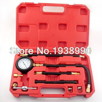 Fuel Injection Pump Pressure Gauge Tester Tuner Gasoline Test Tools kit NEW<br>