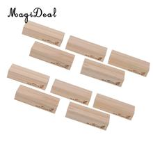 10pcs Nature Wooden Photo Note Place Card Name Holders Cafe Shop Menu Table Number Clips Stand Wedding Favors